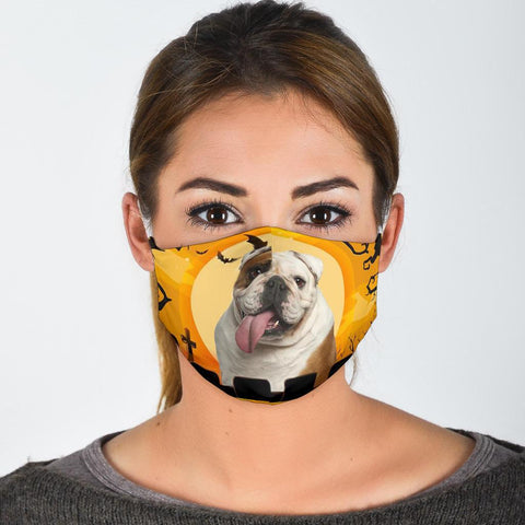 Bulldog Print Face Mask