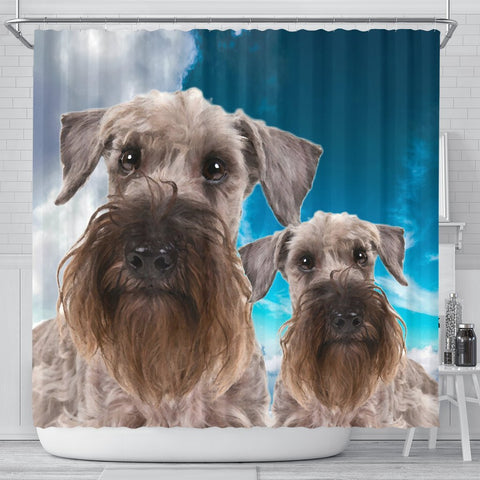 Lovely Cesky Terrier Print Shower Curtains-Free Shipping