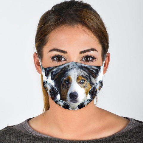 Lovely Australian Shepherd Print Face Mask