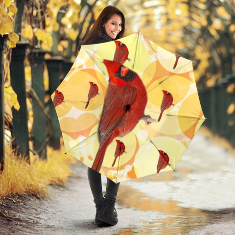 Amazing Cardinals birds Print Umbrellas