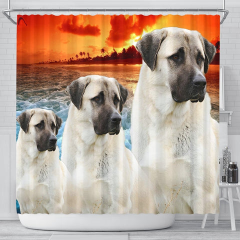 Anatolian Shepherd Print Shower Curtains-Free Shipping