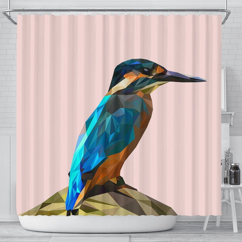 HummingBird Vector Art Print Shower Curtains-Free Shipping