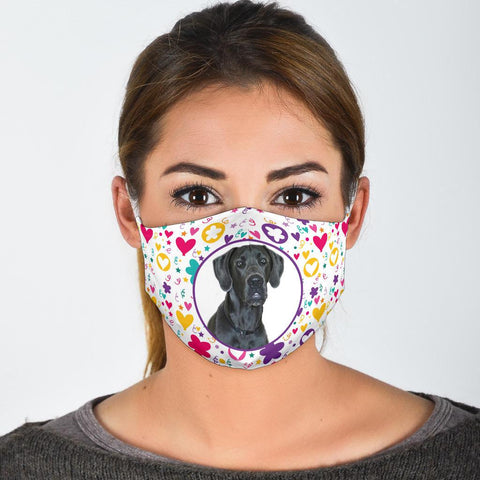 Great Dane Dog Print Face Mask