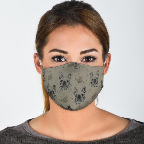 French Bulldog Patterns Print Face Mask