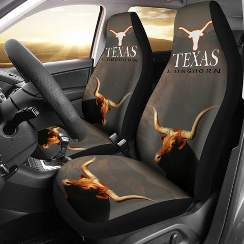 Texas Longhorn Cattle (Cow) Print Car Seat Covers-Free Shipping