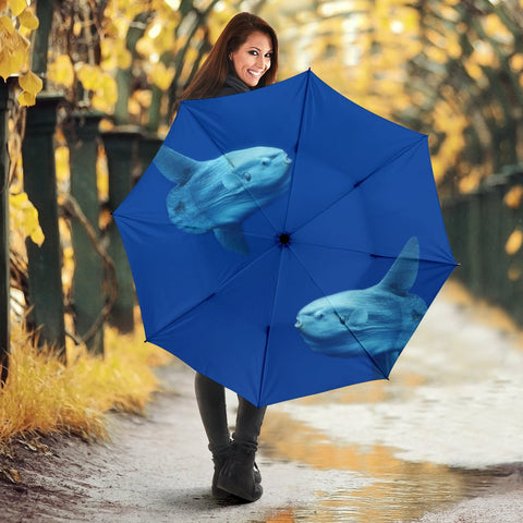Ocean Sunfish Print Umbrellas