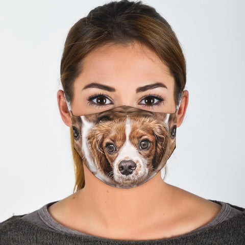 Cute Cavalier King Charles Spaniel Print Face Mask