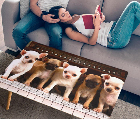 Chihuahua Print Rectangular Coffee Table