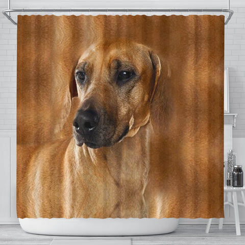 Rhodesian Ridgeback Dog Print Shower Curtain-Free Shipping