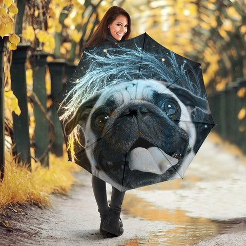 Lovely Pug Dog Print Umbrellas- Limited Edition