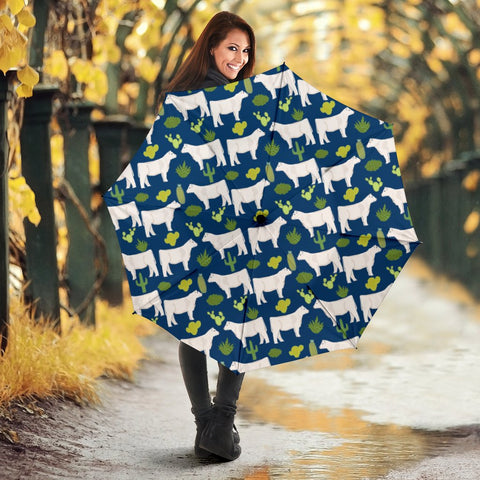 Limousin cattle (Cow) Patterns Print Umbrellas