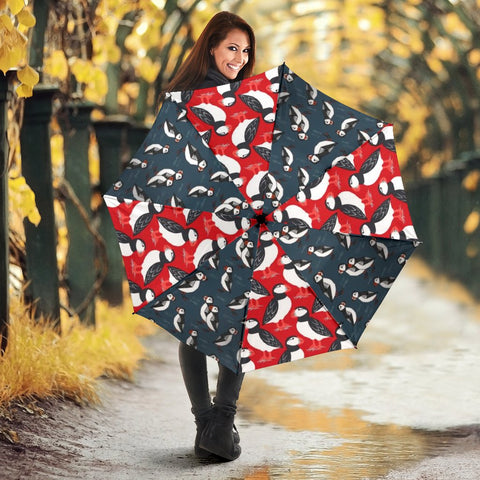 Amazing Puffins Bird Patterns Print Umbrellas