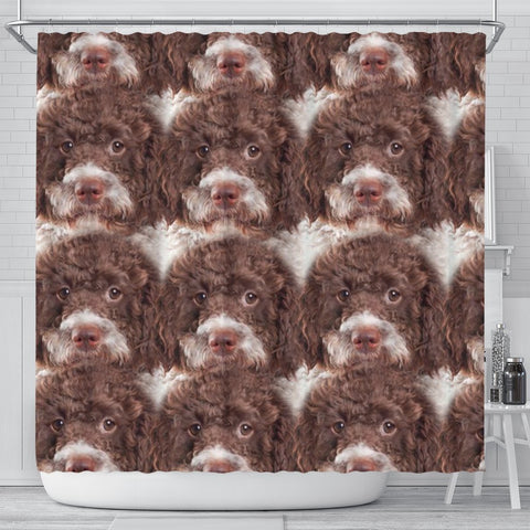 Lagotto Romagnolo Dog Print Shower Curtain-Free Shipping