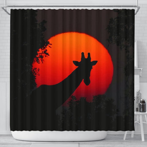Amazing Giraffe Shadow Print Shower Curtains-Free Shipping