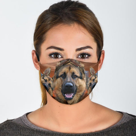 German Shepherd Print Face Shield
