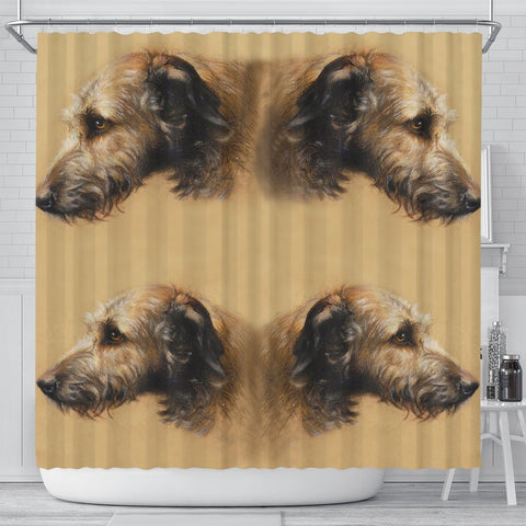 Amazing Irish Wolfhound Print Shower Curtain-Free Shipping