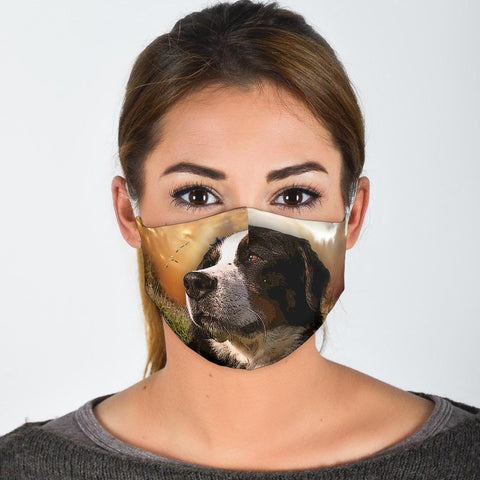 Lovely Bernese Mountain Dog Print Face Mask