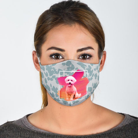Pomeranian Dog Print Face Mask