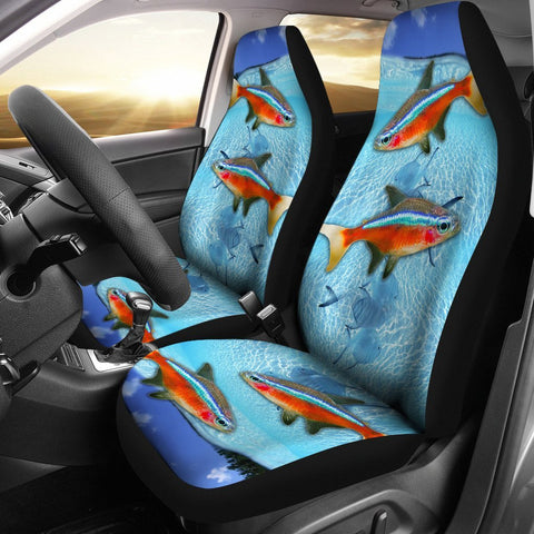 Neon Tetra Fish Print Car Seat Covers-Free Shipping