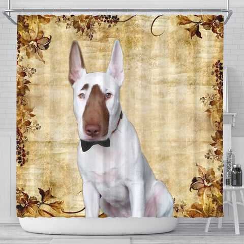 Bull Terrier Print Shower Curtains-Free Shipping