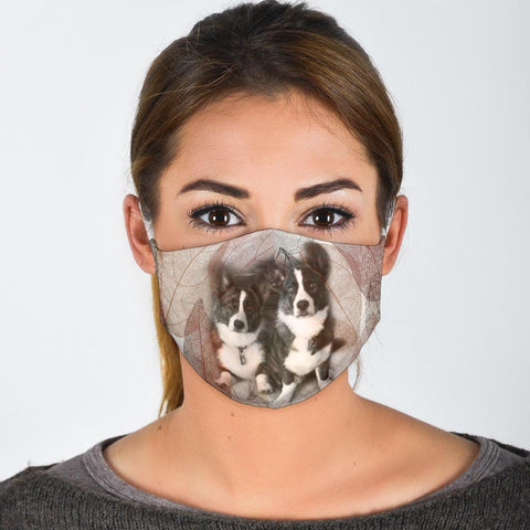 Cardigan Welsh Corgi Print Face Mask