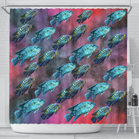 Jack Dampsy Fish Print Shower Curtains-Free Shipping
