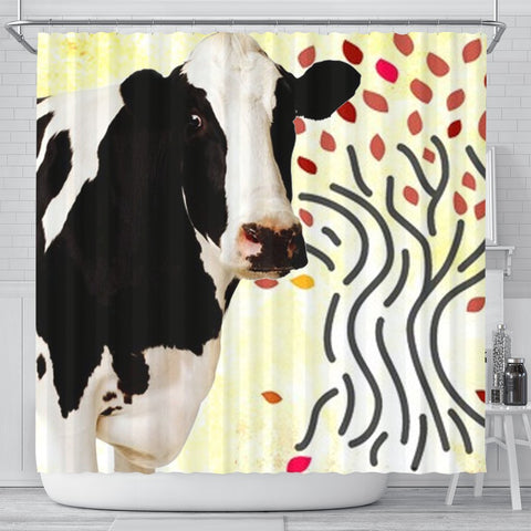 Holstein Friesian cattle (Cow) Print Shower Curtain-Free Shipping