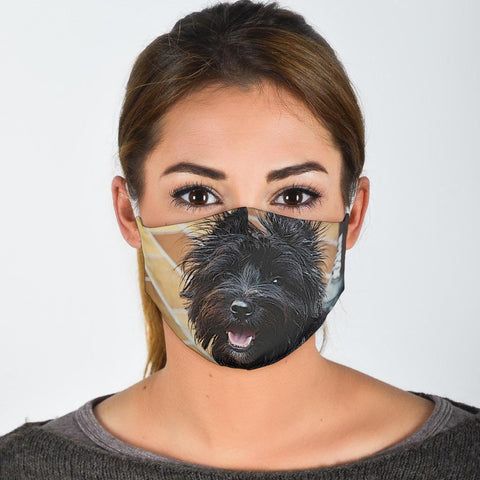 Cairn Terrier Print Face Mask