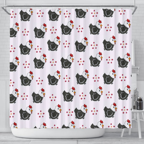 Cute Birds Print Shower Curtain-Free Shipping