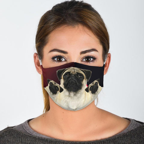 Lovely Pug Print Face Mask
