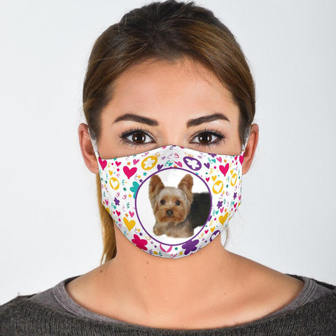 Cute Yorkie Print Face Mask