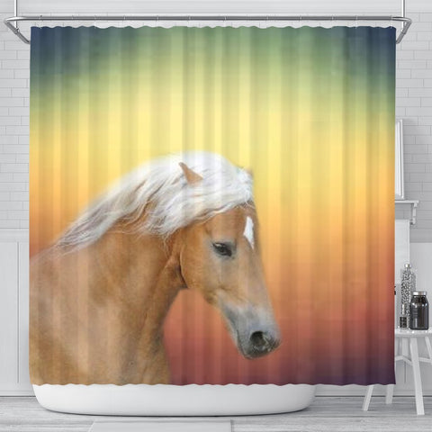 Haflinger Horse Print Shower Curtain-Free Shipping
