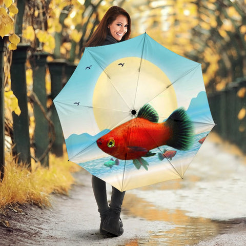 Platies Fish Print Umbrellas