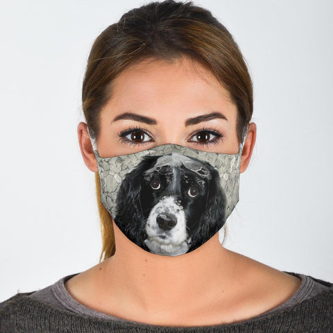 Lovely English Springer Spaniel Print Face Mask