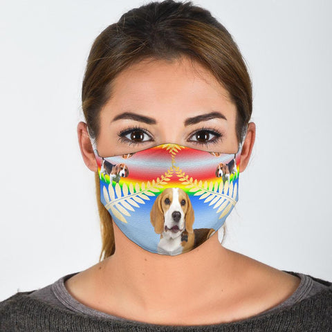 Beagle Designs Print Face Mask