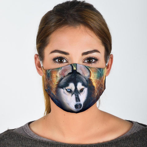 Cute Siberian Husky Print Face Mask