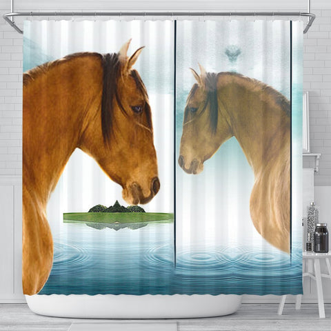 Kiger Mustang Horse Art Print Shower Curtain-Free Shipping