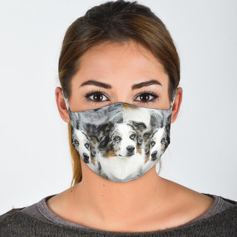 Australian Shepherd Dog Print Face Mask