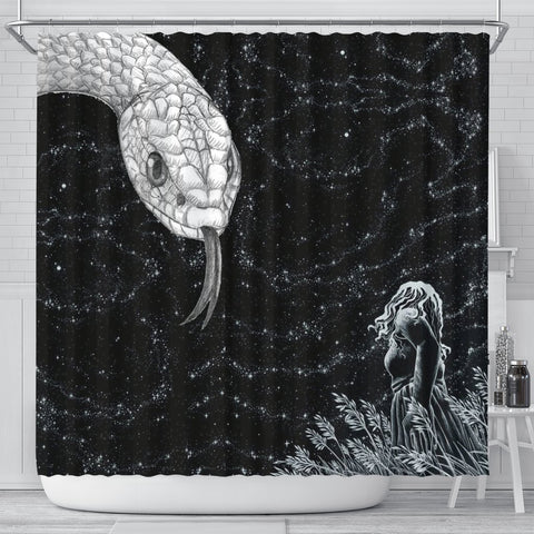 Amazing Snake Print Shower Curtain-Free Shipping