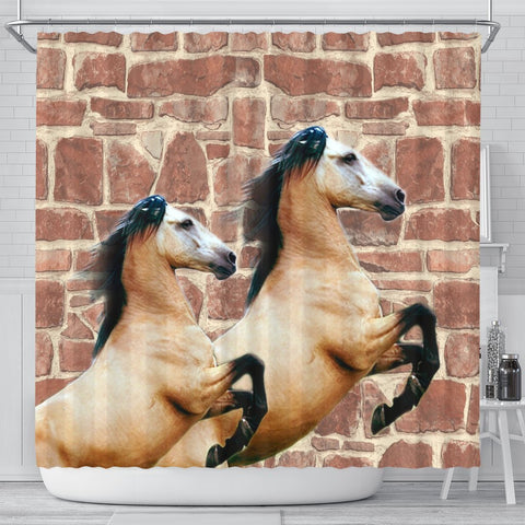 Cute Andalusian Horse Print Shower Curtains-Free Shipping