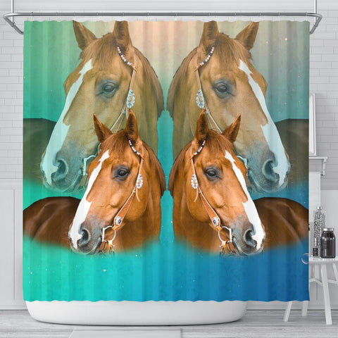 Amazing Quarter Horse Print Shower Curtains-Free Shipping