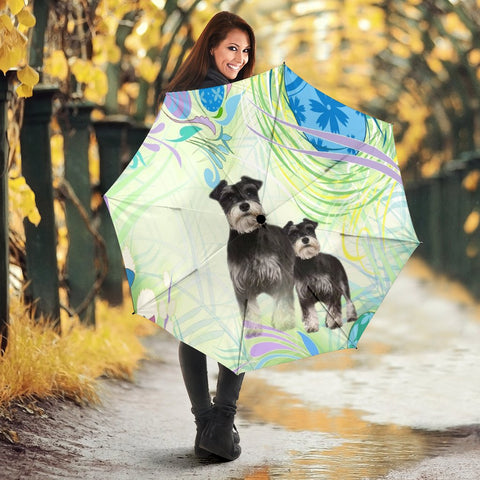 Miniature Schnauzer Dog Print Umbrellas