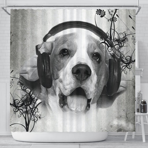 Lovely Beagle Print Shower Curtains-Free Shipping