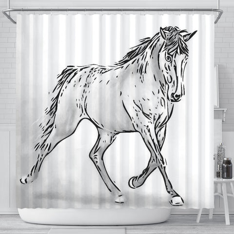 Amazing Tennessee Walking Horse Print Shower Curtain-Free Shipping