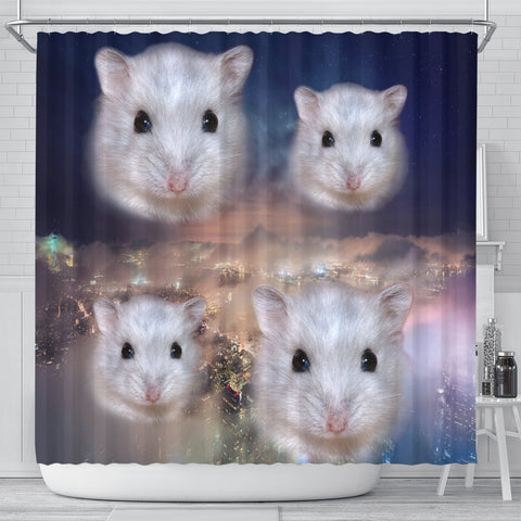 Campbell's Dwarf Hamster Print Shower Curtains-Free Shipping