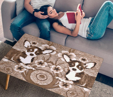 Chihuahua Dog Print Rectangular Coffee Table