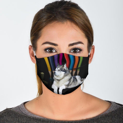 Alaskan Malamute Dog Print Face Mask