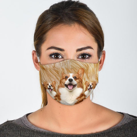Lovely Pembroke Welsh Corgi Print Face Mask