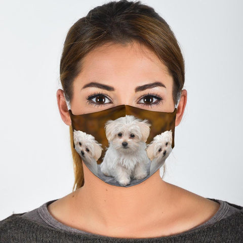 Maltese Print Face Mask