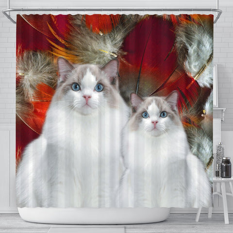 Ragdoll Dog Print Shower Curtains-Free Shipping